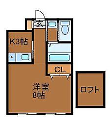 上弦舎[1階]の間取り