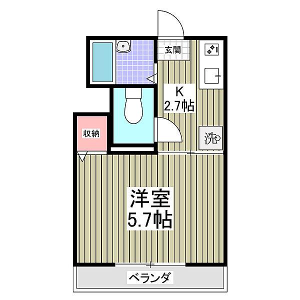 ラフィ−ネ2[2階]の間取り