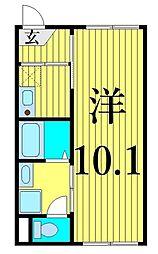 JR常磐線 南千住駅 徒歩12分の賃貸マンション 3階1Kの間取り