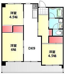 パルティーレ南倉敷[8階]の間取り