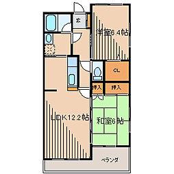 ポルトフィーノ[3階]の間取り