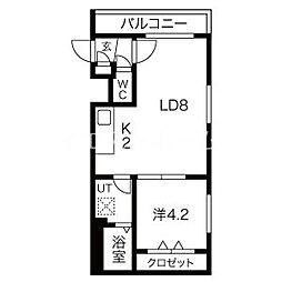 Steady State Asabu(ステディ ステート麻生) 4階1LDKの間取り