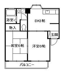 グリーンハイツ小澤[103号室]の間取り