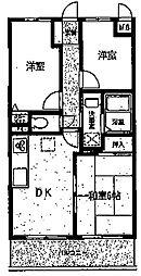ラフィネ相武台III[208号室]の間取り