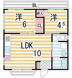 ハイツOOSUMI[3階]の間取り