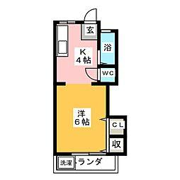 コーポ若草[1階]の間取り