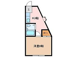 三重県松阪市光町の賃貸マンションの間取り