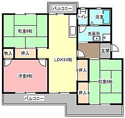 メゾン・ド・ラフォーレ[3階]の間取り