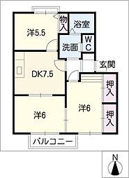 ボナール東大垣 B棟[2階]の間取り