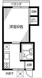 東京都杉並区成田東1丁目の賃貸アパートの間取り