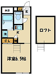 東京都府中市晴見町3丁目の賃貸アパートの間取り