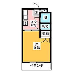 ボンセジュール・ナガイ[2階]の間取り
