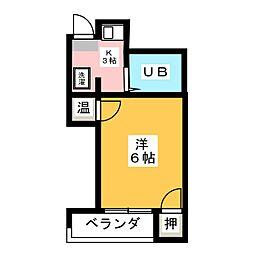 都ビル岩塚[4階]の間取り