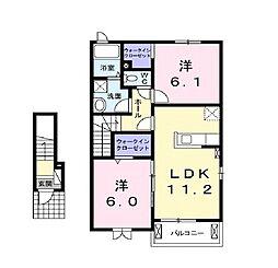 ライゼ 西所沢[2階]の間取り