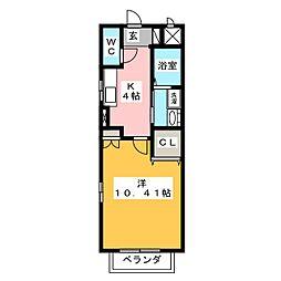ウイングコート[3階]の間取り