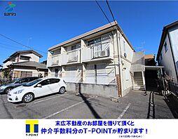 埼玉県熊谷市見晴町の賃貸アパートの外観