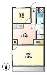 大恵第三マンション[1階]の間取り