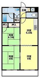 愛知県豊田市大林町14丁目の賃貸マンションの間取り
