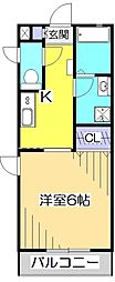 カーサ・ステラ[2階]の間取り