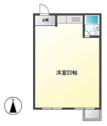 シャトー村瀬 I[2階]の間取り