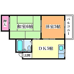サンハイツ塚本[3階]の間取り