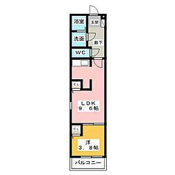 Leciel桜本町III[3階]の間取り