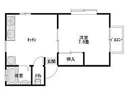 ダイセンアパートH[201号室]の間取り