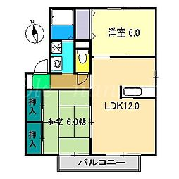 ラポール野本D棟[2階]の間取り