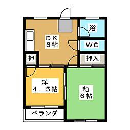 坂野ビル[5階]の間取り