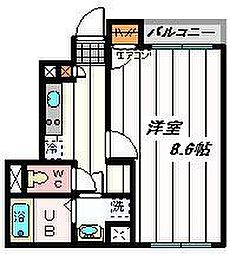東武野田線 岩槻駅 徒歩12分の賃貸アパート 1階1Kの間取り