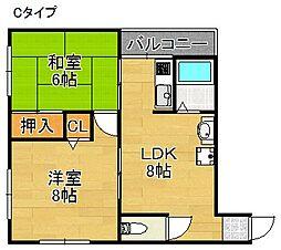 まつよしマンション[2階]の間取り