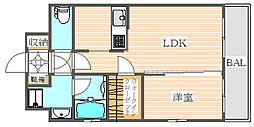 HSK博多ステーション(エイチエスケー博多ステーション)[3階]の間取り