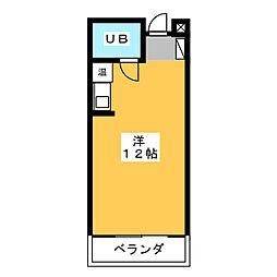 坂下ハイム[3階]の間取り