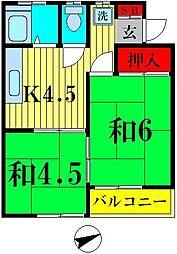 ハイツ田中[2階]の間取り