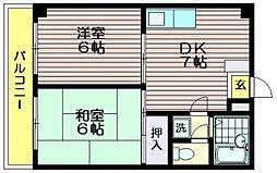 アベニュー成城2[301号室]の間取り