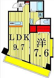 ドルチェ・オオギ 3階1LDKの間取り