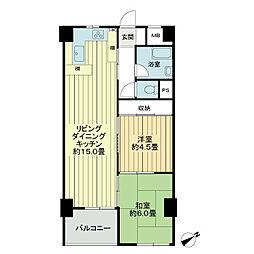 第23宮庭マンション[3階]の間取り