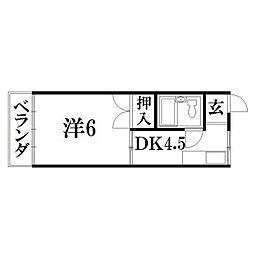 静岡県浜松市東区植松町の賃貸アパートの間取り