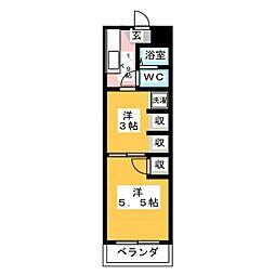 ガーデンハイツ神山[2階]の間取り