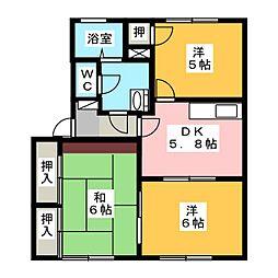 シューユーコートB[1階]の間取り