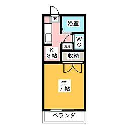 メゾンハピネス[2階]の間取り