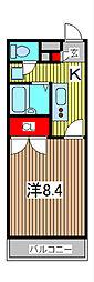 アンプルールフェールyoshida[3階]の間取り