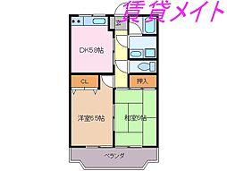 マンションLIVE[3階]の間取り