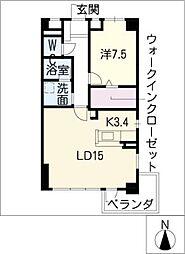 パティオ覚王山[3階]の間取り