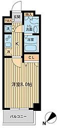 ライジングプレイス船橋宮本[1階]の間取り
