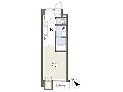 仮)清水町4丁目新築マンション 2階1Kの間取り