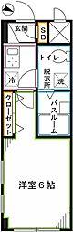 JR中央本線 国分寺駅 徒歩8分の賃貸マンション 1階1Kの間取り