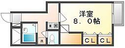 広島県福山市南今津町の賃貸アパートの間取り