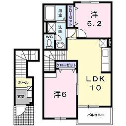 セレーノ広江II[2階]の間取り