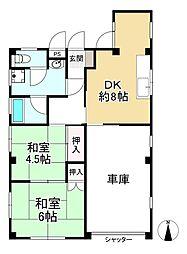 JR東海道・山陽本線 六甲道駅 徒歩8分 2DKの間取り